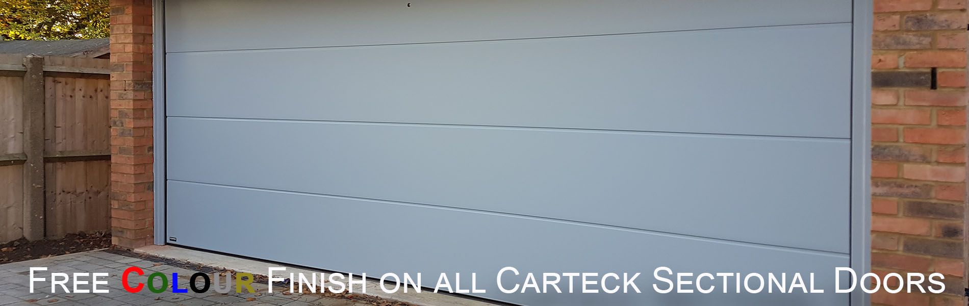 Carteck trend colour sectional door special offer