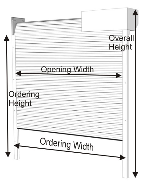 Insulated roller door ordering references