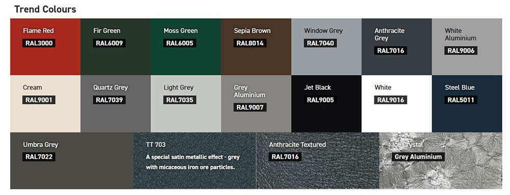 carteck trend colours
