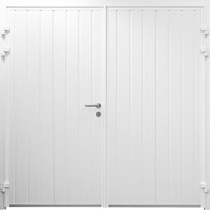 Carteck Insulated Side Hinged Garage Door - Standard Ribbed