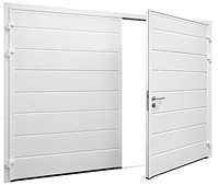 carteck side hinged insulated garage doors