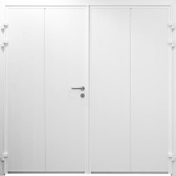 solid design insulated side hinged doors