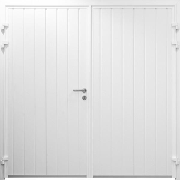 standard ribbed side hinged garage door design