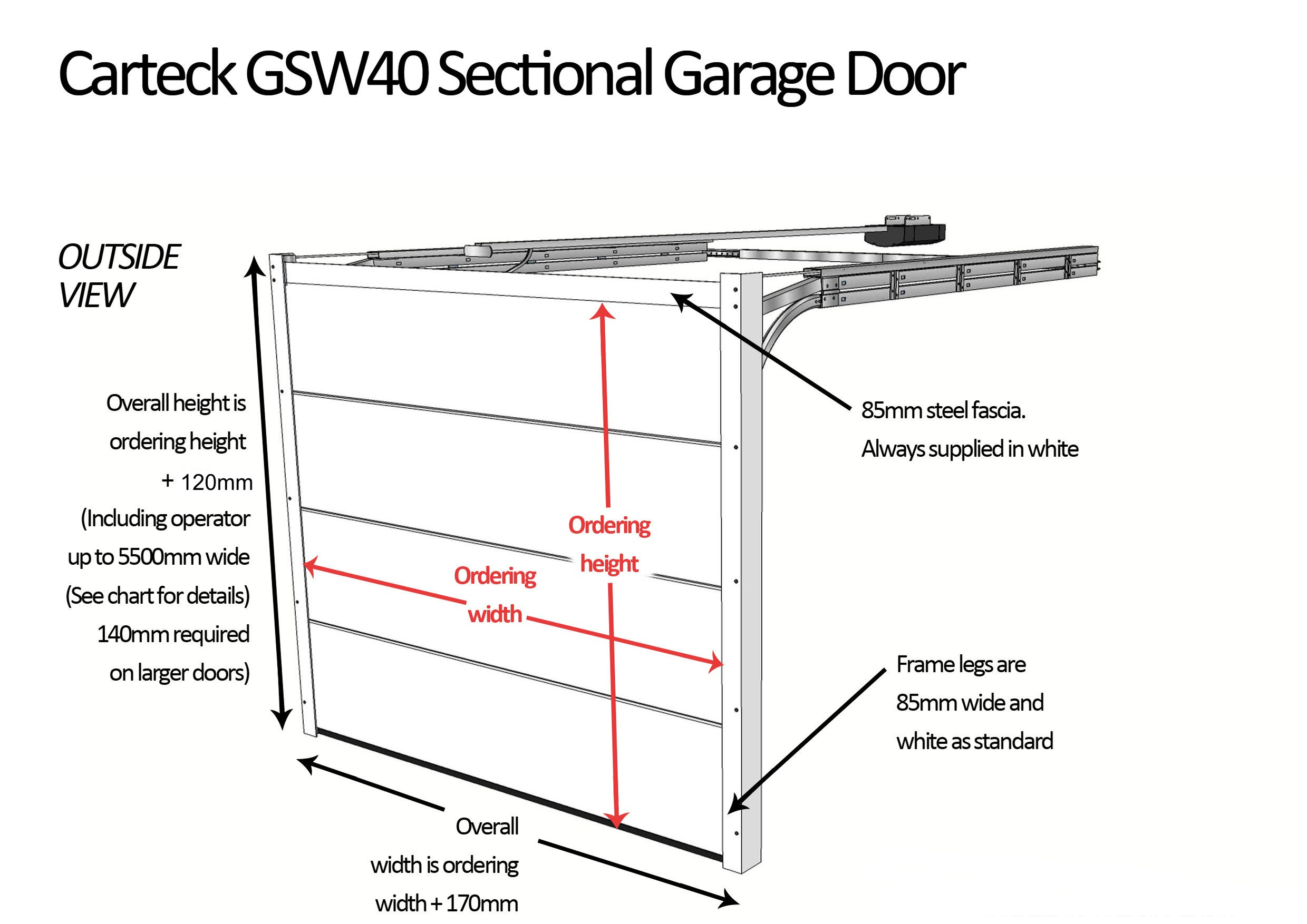 Carteck Sectional Door Sizes Dimensions For Carteck