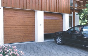 twin garage with carteck sectional doors