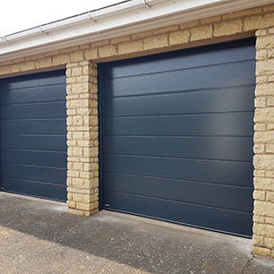 Carteck Sectional Doors in Anthracite