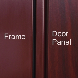 Hormann Decograin Rosewood frame and door panel