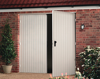 Opening Like Traditional Double Doors, Side Hinged Doors Are A Timeless  Option For A Garage. Perfect For Garages That Require Regular Pedestrian  Access.