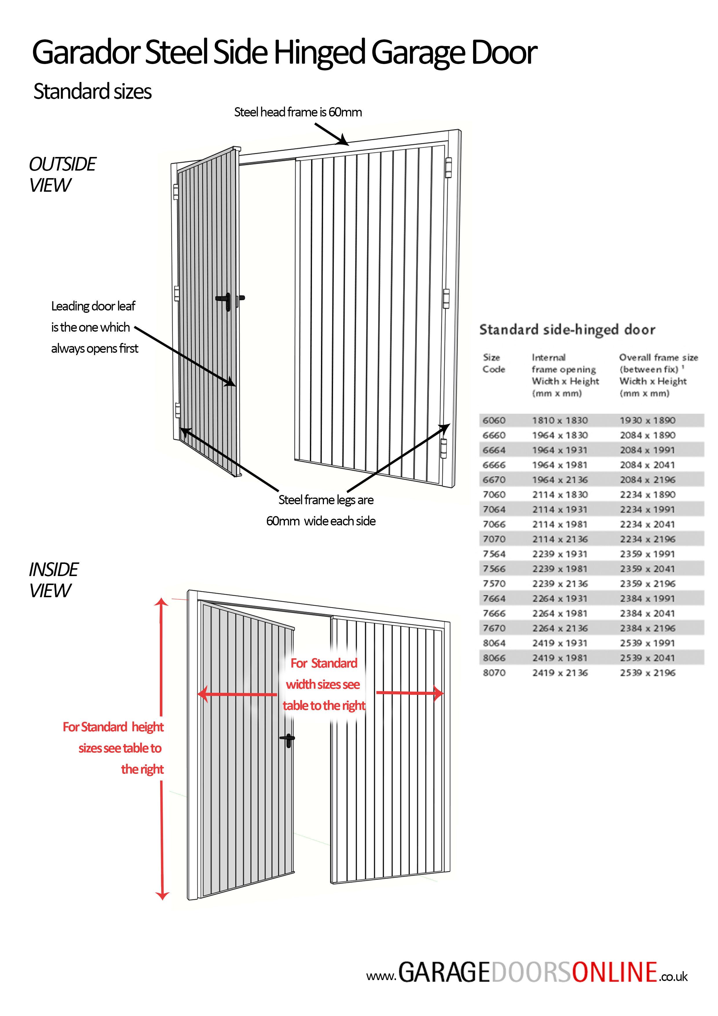 Garador Garador Georgian Steel Side Hinged Door Complete