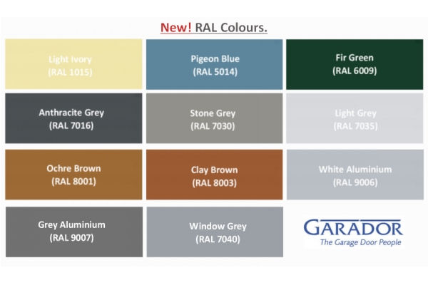 Garador New Colours For Up And Over