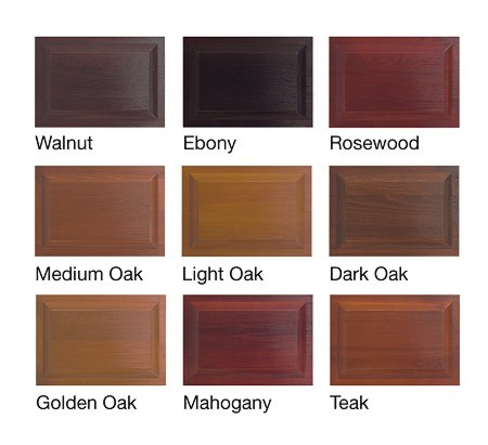 Hormann timber up and over garage door colour selections