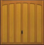 hormann timber up and over door 2014 rutland - curved head design