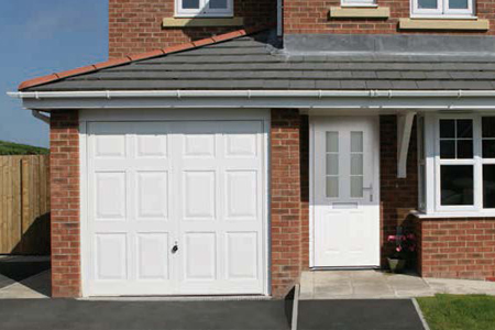 Hormann panelled up and over garage doors