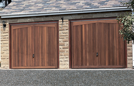 Hormann timber up and over garage doors