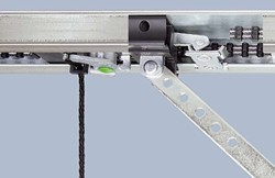 automatic door latching system for additional security on garage doors