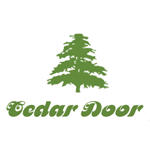 Cedar up and over garage doors