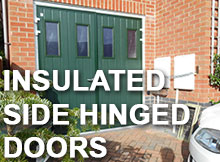 Shop for insulated side hinged doors