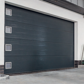 Carteck sectional garage door with windows