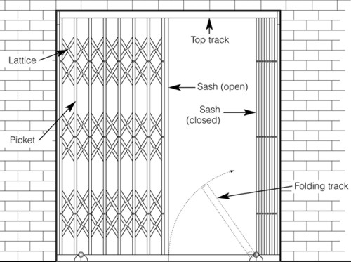 Mesmerizing Collapsible Door Plan Amd Section Contemporary ...