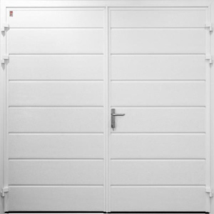 Carteck Centre Ribbed Horizontal Steel Side Hinged Door
