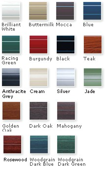 Thermaglide roller door colours