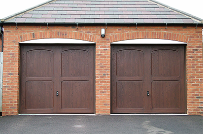 Pair of GRP up and over garage doors