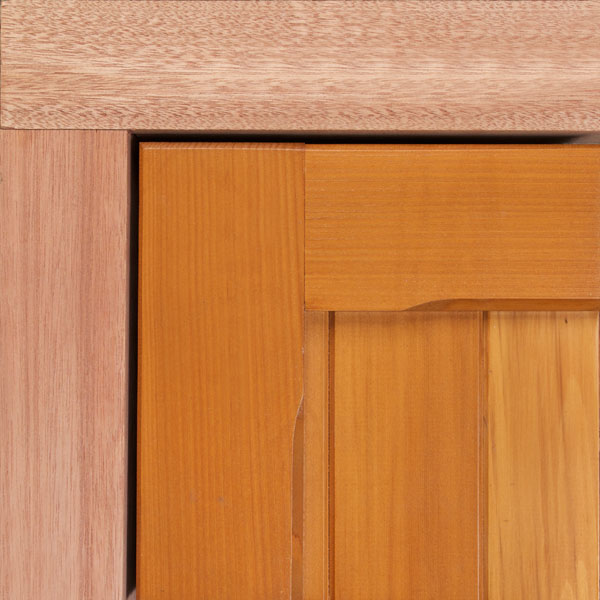 Hardwood red meranti timber fixing frame