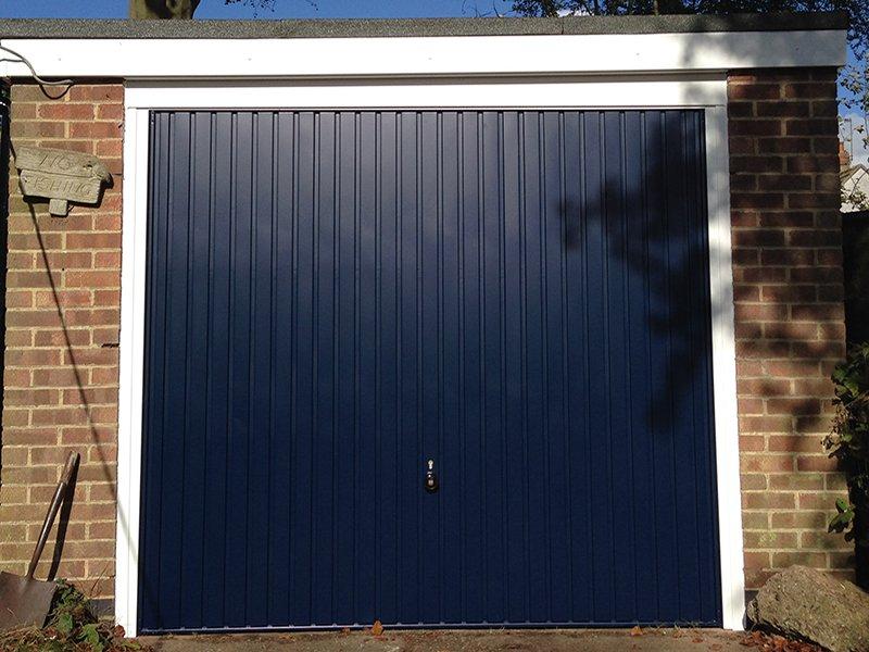 Attractive Garage Doors Online · Hormann 2001 Vertical Up And Over In Blue RAL 5005