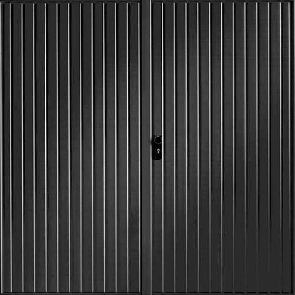 Garador Garador Carlton Black Steel Side Hinged Garage