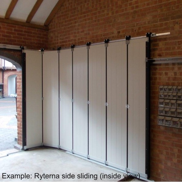 Ryterna Ryterna Side Sliding Steel Top Rib Garage Door