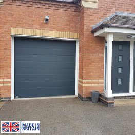 Seceuroglide Sectional Door - Centre Ribbed Design