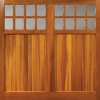 timber garage door in cedar