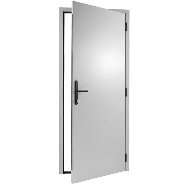 Aluminum Flush Panel Doors : Durapass flush insulated white steel personnel doors