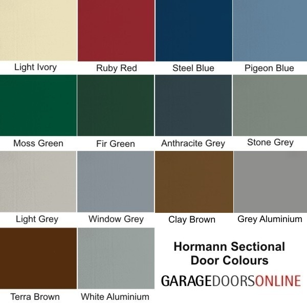 Hormann Sectional L Ribbed Garage Door In Anthracite Grey: Hormann LPU42 L Ribbed Micrograin Colour (double) Hormann