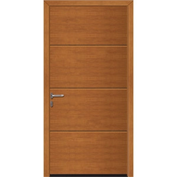 Hormann NT60 L Ribbed Decograin Pedestrian Doors with Block Frame (Purpose Made)