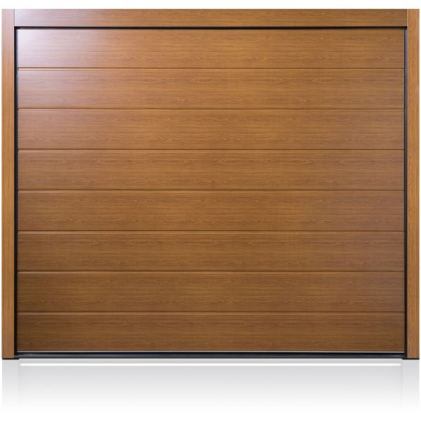 Wood Sectional Garage Doors : Carteck centre ribbed wood design steel sectional