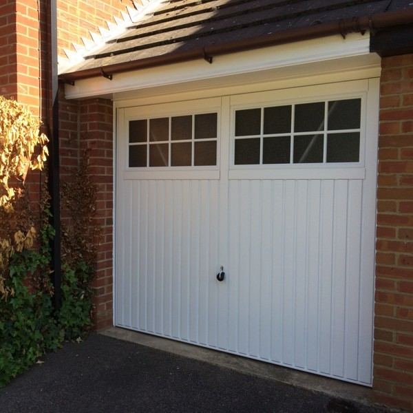 2101 Ilkley Single Hormann Steel Up And Over Canopy Garage Door At