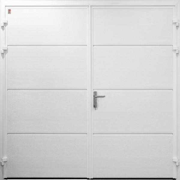Carteck Steel Side Hinged Carteck Solid Horizontal White