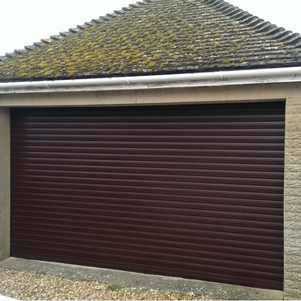 Gliderol Roller Door with Full Hood and Laminate Woodgrain Finish