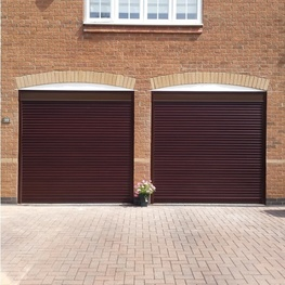 Gliderol Roller Door with No Hood and Laminate Woodgrain Finish
