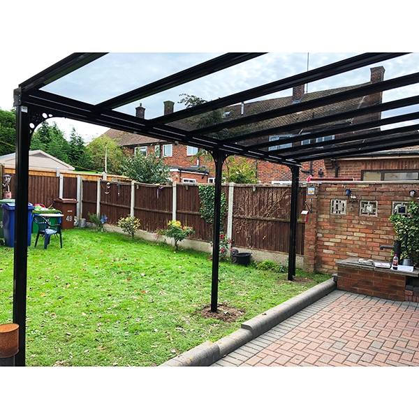 Samson Carport Picture View From Above With Glazing Roof