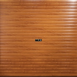 Gliderol Manual Roller Door with Full Hood and Laminate Woodgrain Finish