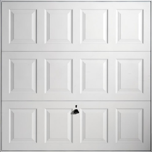 Georgian (White) Steel Up and Over  sc 1 st  Garage Doors Online & Georgian (White) Garador Steel Up and over Canopy Garage Door at ...