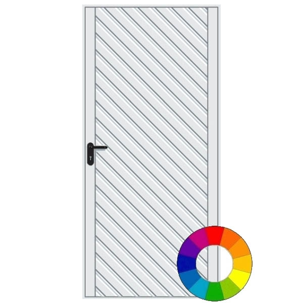 Hormann 2003 Chevron Pedestrian Door (RAL Colour)