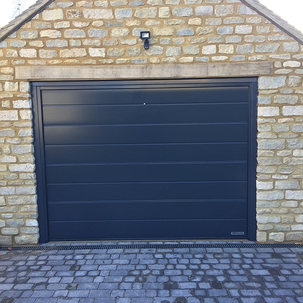 Hormann Sectional L Ribbed Garage Door In Anthracite Grey: Z Track Sectional Door Hormann