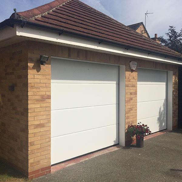 Hormann Sectional L Ribbed Garage Door In Anthracite Grey: Hormann Steel Sectional Sectional Door Hormann L Ribbed