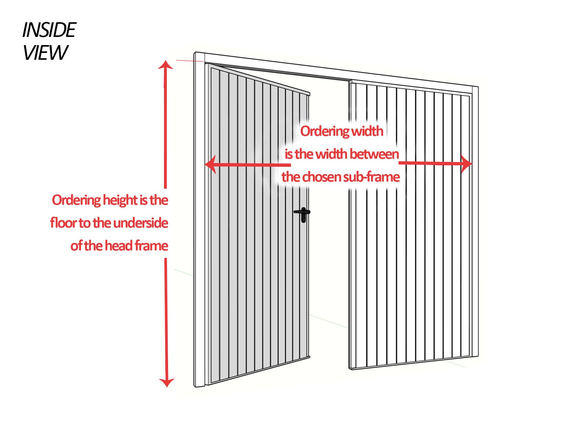 Side Hinged Garage Door Measuring Guide, Steel, Aluminium, Timber ...