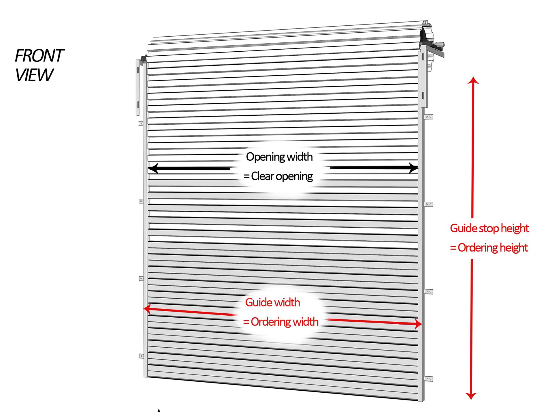 Measuring for roller doors buy online garage roller for Sizes of garage doors