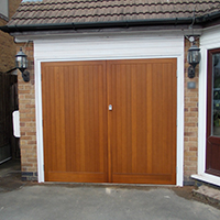Cedar Side Hinged Garage Doors