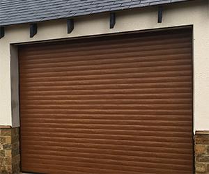 Gliderol aluminium insulated laminate coated roller shutter garage door